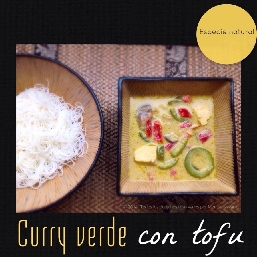 Curry verde con tofu