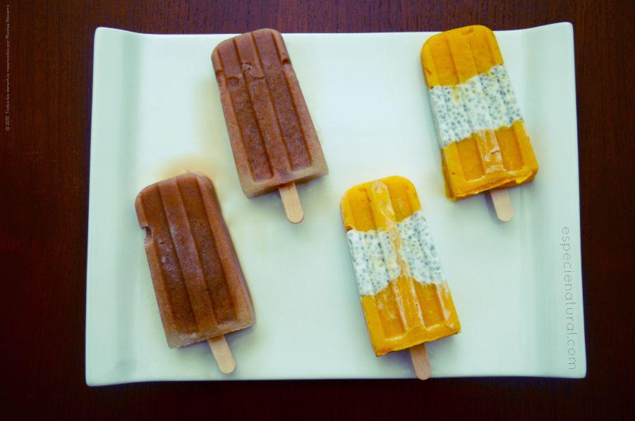 Paletas heladas chía & chai