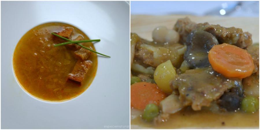 Mi menú de Navidad: sopa de cebolla y fricandó vegano con setas