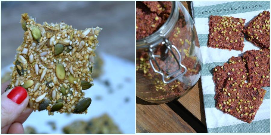 Crackers crudiveganos: de pipas y de raíces.